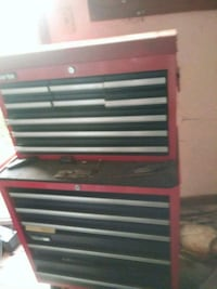black and red tool cabinet New Castle, 47362