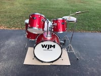 Great Beginner red WJM drum set Dover, 19901
