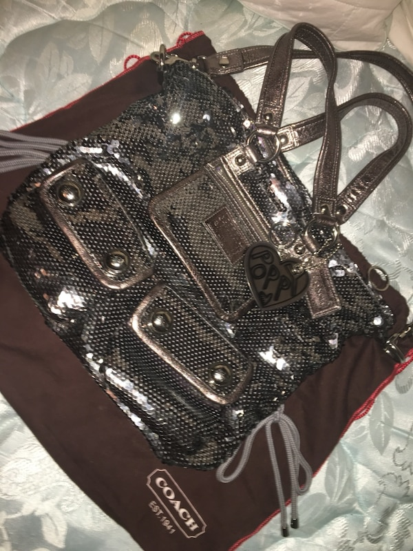 2c0bff310263 Used Silver sequin coach purse for sale in McKinney - letgo