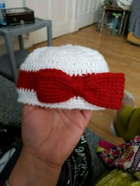 white and red knitted textile Greater Manchester, OL12 6QR