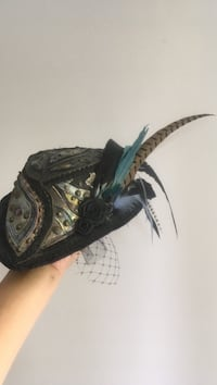 Steampunk mini hat-one of a kind leather by Dropping Form Designs Vancouver, V6J 2E6