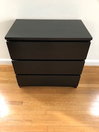 black wooden 3-drawer chest Washington