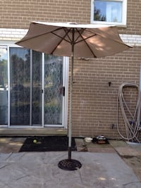 Patio umbrella and iron stand Mississauga, L5J 1V8