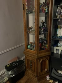 Antique Cabinet with Glass Shelves