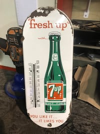 Vintage 7up thermometer from 1950's