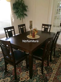 7-PC Breakfast Dining Table w/ 6 Leather Padded Ch Sugar Land, 77498