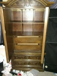 brown wooden framed glass display cabinet Beltsville, 20705
