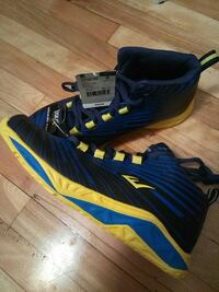 pair of black-blue-and-yellow basketball shoes Montreal