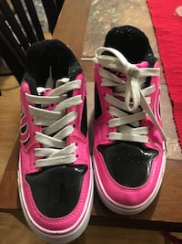 Pair of Pink and Black Heelys youth size 4 Santa Rosa, 95409