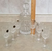 Crystal Decanters plus accessories Mississauga
