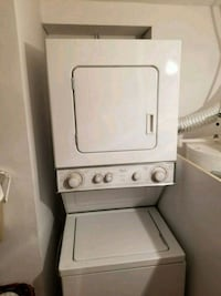 white stackable washer and dryer Montreal, H1G 5E4