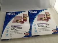 2 opened packages INKJET Premium Gloss Trim-fold brochure and flyer paper, close to full packs,  see pics Chesapeake, 23320