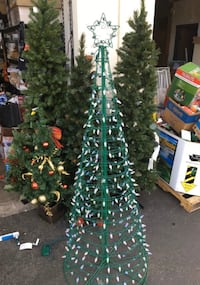 6 Ft. Pre-Lit Led Tree With Star And Color Changing Blue -Multi-Color