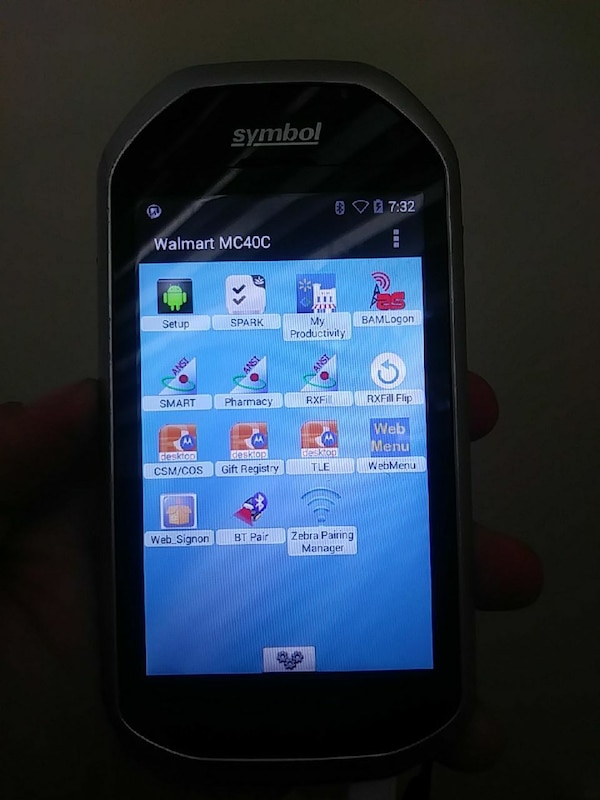 MC40 walmart mobile computer/Scanner android OS