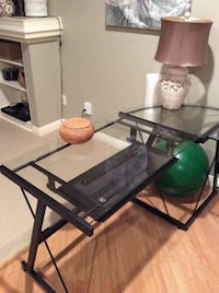 Moving must sell Glass L-Shaped desk  St Albert, T8N