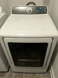 white Samsung front-load clothes dryer Dallas, 30157