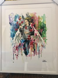 """Lora Zombie: """"Kurt"""" limited edition, SIGNED, framed, 32x40 Los Angeles, 90032"""