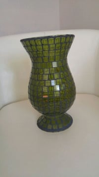 Decorative Stain Glass Tall Vase