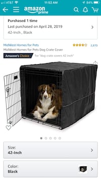 Double door 42 inch dog crate with cover Jupiter, 33477