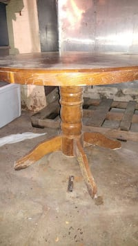 Large round wooden table East Providence, 02914