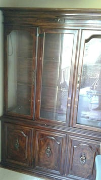 brown wooden china cabinet Houston, 77040