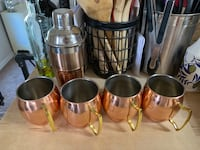 Shaker and copper cups Falls Church, 22043