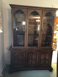 brown wooden framed glass display cabinet Centerville, 29625