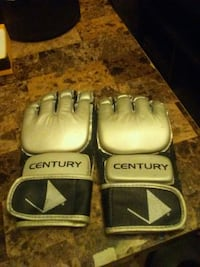 pair of gray-and-black Everlast boxing gloves 3152 km