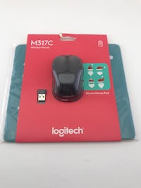 Brand new Logitech Wireless mouse with mouse pad