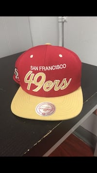 red and yellow Chicago Bulls fitted cap Los Angeles, 90025