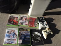 Xbox 360 halo edition with games and controllers  Surrey, V3S 2L2