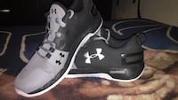 pair of black Under Armour basketball shoes Winnipeg, R2W 0G3