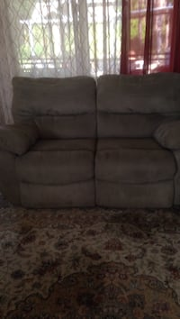 gray suede 2-seat recliner sofa Palm Coast, 32164