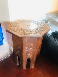 Vintage hand carved syrian or middle eastern tea coffee table Toronto, M2R 3N1