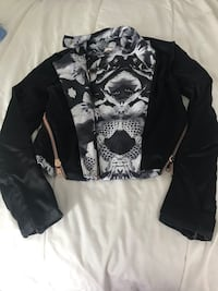 Leather jacket - BLACK, mixed material Toronto, M5S 3M4