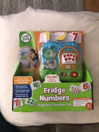 Leap frog fridge numbers magnetic number set box Toy    For baby or Toddler