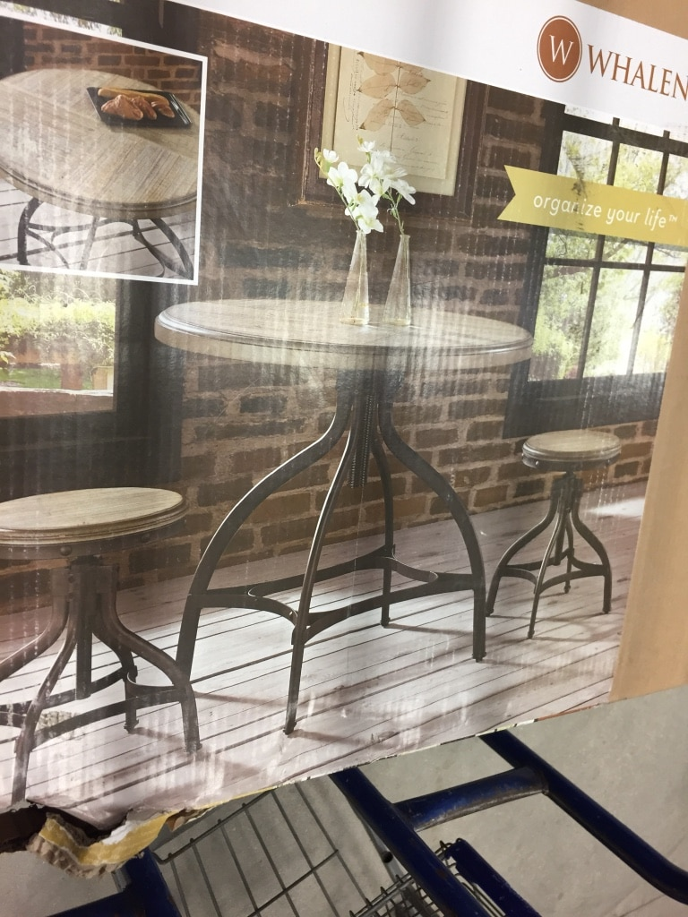 ** BRAND NEW IN BOX!!! ** Whalen Brown 3 Piece Dining Set With Round  Counter Height Table