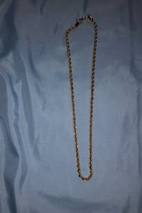Stainless steel gold plated chain/Design: Twisted Nashua, 03062
