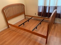 Solid wood bed frame in very good condition  McLean, 22101