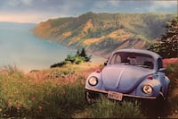 Punch buggy Volkswagen Mounted Poster