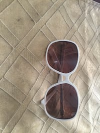 white framed sunglasses coach