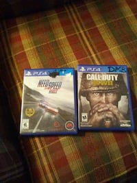 two Sony PS4 game cases Lancaster, 43130