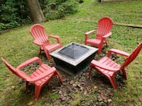Fire Pit with 4 Chairs Bowie, 20715