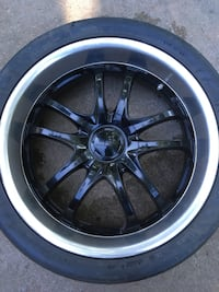 "20"" MSR universal rims with a set of Hankook Ventus V12 Evo tires."