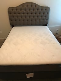 white mattress with black wooden bed frame Converse, 78109