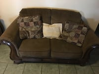 Wood frame brown sofa Lafourche, 70301