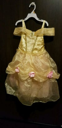 Disney Belle Costume size 4 with crown and shoes