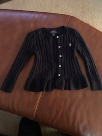 Navy blue button up cardigan sweaters. 4t. Waldorf, 20601