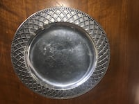 Heavy antique pewter dish by Wilton Whittier, 90602