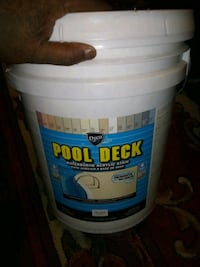 Pool deck acrylic stain